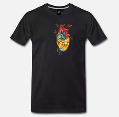 climbing4all t-shirt cuore