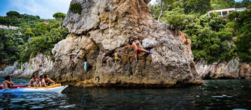 Deep Water Soloing nel Mare